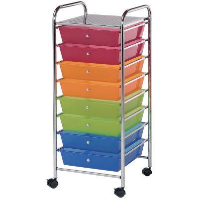 Storage Cart W/8 Drawers 16.5