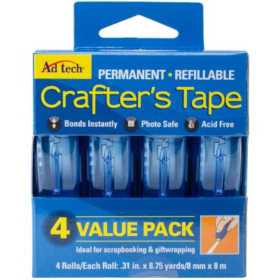 Crafter'S Tape Permanent 4/Pkg .31