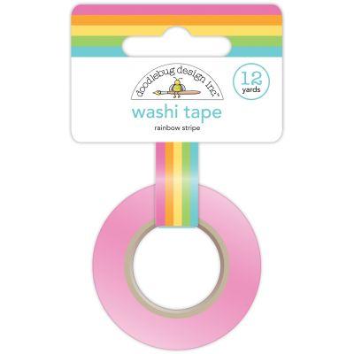 Doodlebug Washi Tape 15Mmx12Yd Rainbow Stripe - DWASHI-4546