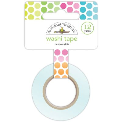 Doodlebug Washi Tape 15Mmx12Yd Rainbow Dots - DWASHI-4547