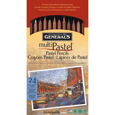 Multipastel Pencils 24/Pkg Assorted Colors - 4401-24A