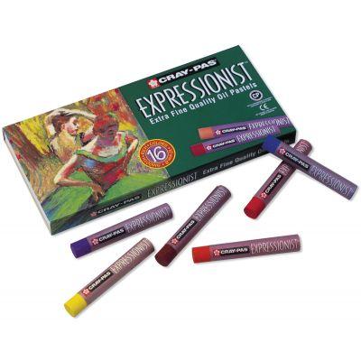 Cray Pas Expressionist Oil Pastels 16/Pkg Assorted Colors - XLP16