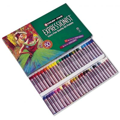 Cray Pas Expressionist Oil Pastels 50/Pkg Assorted Colors - XLP50