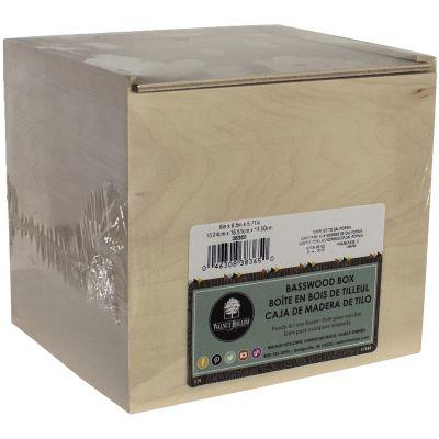 Basswood Card Keeper Box W/Sliding Lid 6