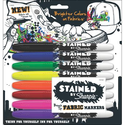 Stained By Sharpie Fabric Markers 8/Pkg Assorted Colors - 1779005