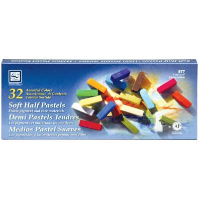 Soft Half Pastels 32/Pkg Assorted Colors - 877