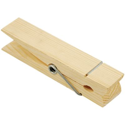 Wood Jumbo Clothespin Natural 5.875