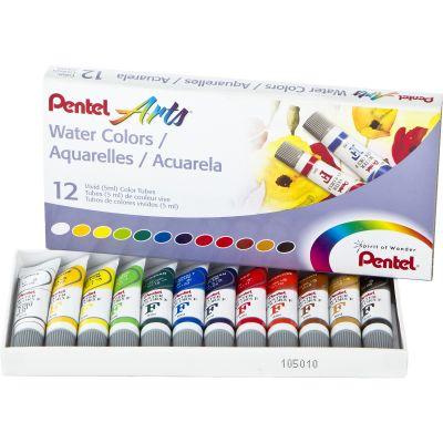 Watercolor Paints 5Ml 12/Pkg Assorted Colors - WFRS-12