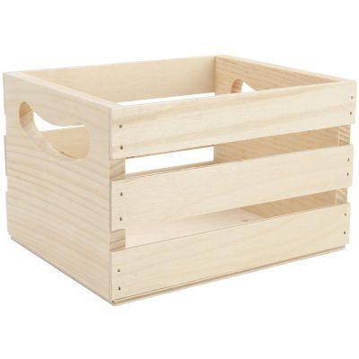 Walnut Hollow Mini Wooden Crate W/Handles 6.5