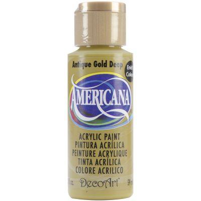 Americana Enid'S Acrylic Paint 2Oz Antique Gold Deep - DAE-146
