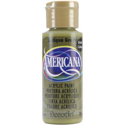 Americana Enid'S Acrylic Paint 2Oz Antique Green - DAE-147