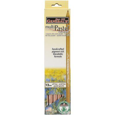Multipastel (R) Chalk Pencils 12/Pkg White - 4414