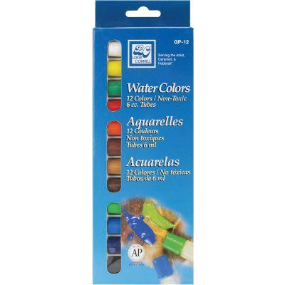 Watercolor Paints 6Ml 12/Pkg Assorted Colors - GP-12