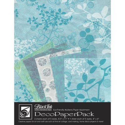 Deco Paper Pack By Black Ink Papers Chinaberry Aqua - DP-703