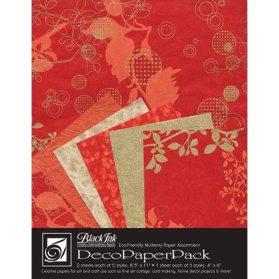 Deco Paper Pack By Black Ink Papers Chinaberry Red - DP-704