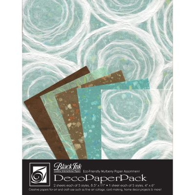 Deco Paper Pack By Black Ink Papers Whimzy - DP-706