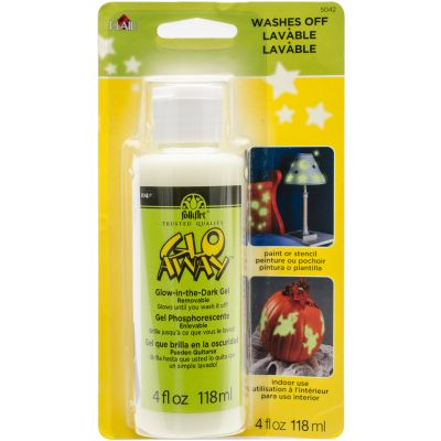 Glo Away Removable Glow In The Dark Paint Carded 4Oz Green - 5042