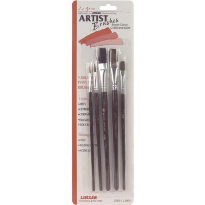 Pony Hair Artistic Brush Set 5/Pkg - A555