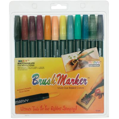 Brush Markers 12/Pkg Victorian - 1500-12C