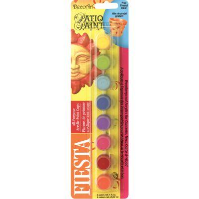 Patio Paint Paint Pots 8/Pkg Fiesta - DAPK65