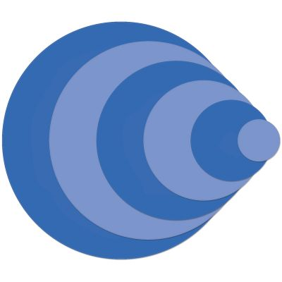 Kaisercraft Nesting Dies 6/Pkg Circles .75