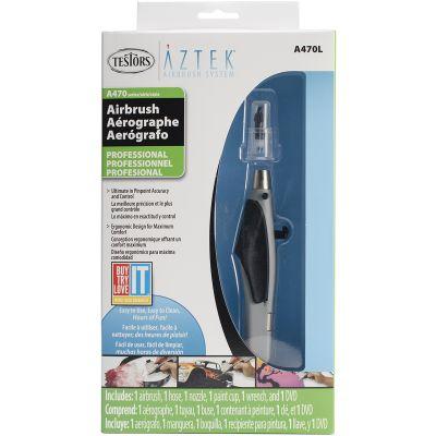 Aztek Single/Double Action Airbrush Kit Pro - A470L