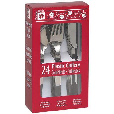 Plastic Cutlery 24/Pkg Silver - 31413