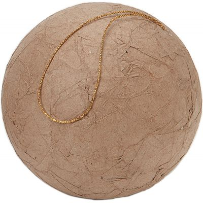 Darice Paper Mache Wrinkled Ball Ornament 3.94
