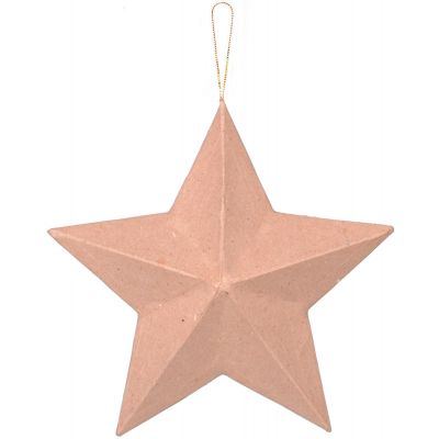 Darice Paper Mache Star Ornament 8