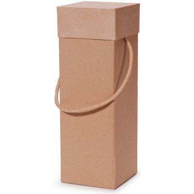 Paper Mache Square Wine Box 4.25