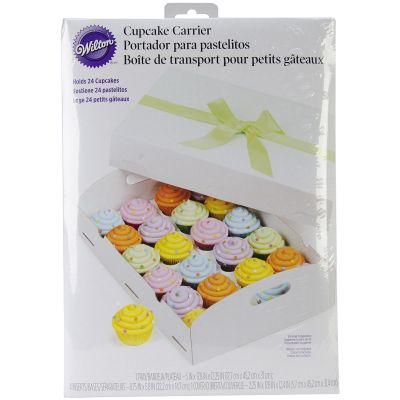 Cupcake Box Folding Tray 24 Cavity White 1/Pkg - W50729