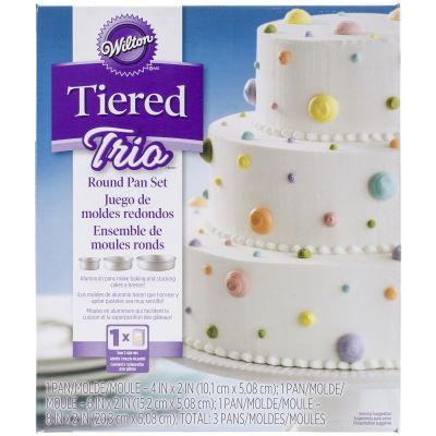 Tiered Trio Cake Pan Set Round 4