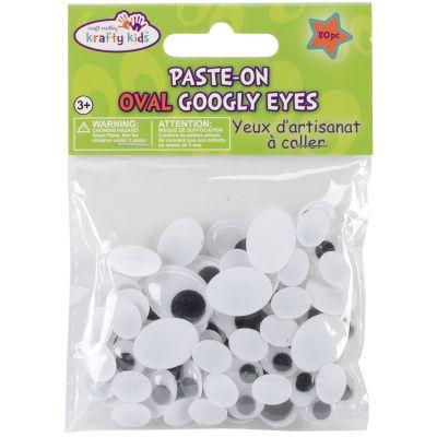 Paste On Googly Eyes Assorted 10Mm To 19Mm 80/Pkg Black - EM402