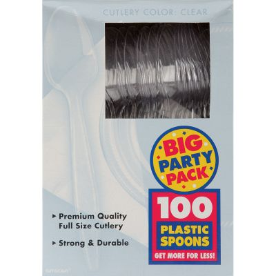 Plastic Spoons 100/Pkg Clear - 4360186