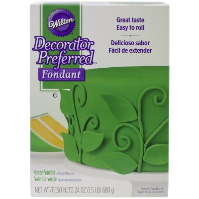 Decorator Preferred Fondant 24Oz Green - W7102-2307