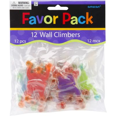 Party Favors 12/Pkg Wall Climbers - 390162