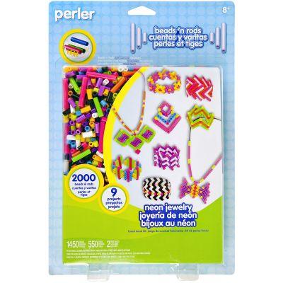 Perler Beads 'N Rods Fused Bead Kit Neon Jewelry - 80-56010