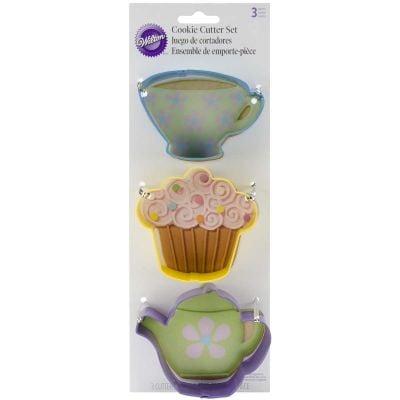 Cookie Cutter Set 3/Pkg Tea Party - W0092