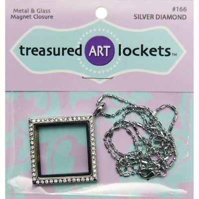 Jewelry Locket Silver Diamond - QLOCKET-166