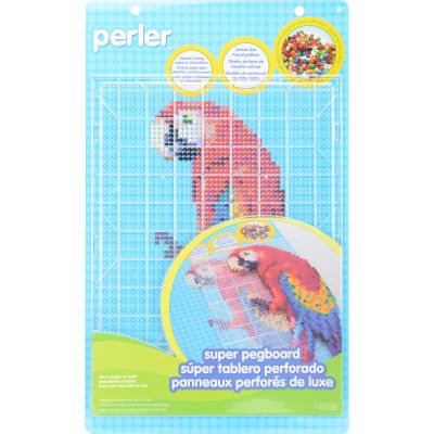 Perler Super Pegboard 1/Pkg Rectangle Clear - 80-30105