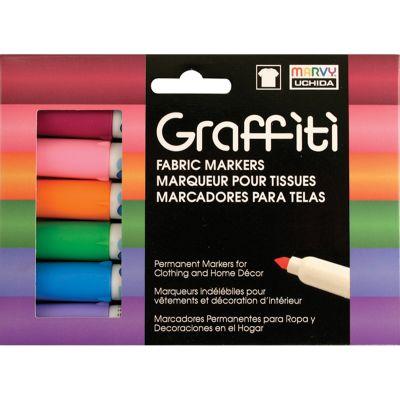 Uchida Graffiti Fabric Markers 6/Pkg Floral - 560-6B