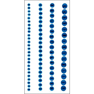 Crystal Stickers Elements 3Mm To 6Mm Assorted 76/Pkg Round  Blue - 16CS-1606