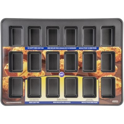 Perfect Results Mega Mini Loaf Pan 18 Cavity 3.75
