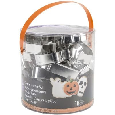 Metal Cookie Cutter Tub 18/Pkg Halloween - W2014