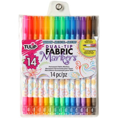 Tulip Dual Tip Fabric Marker Set 14Pc Assorted Colors - 31960