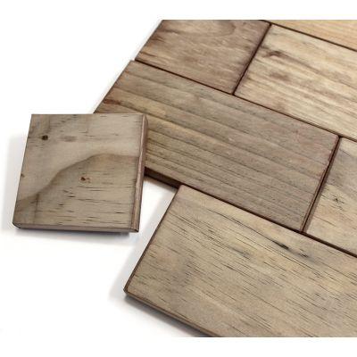 Salvaged Wood Blocks Brick Pattern 13.25