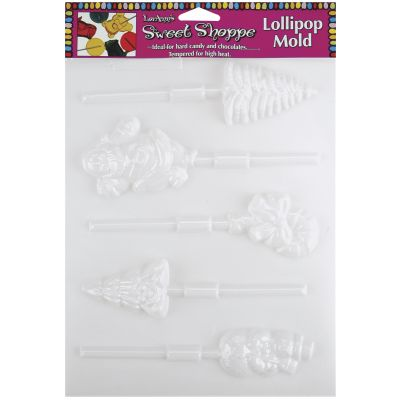 Sweet Shoppe Candy Molds 5 Cavity Christmas Lollipop - L55-68