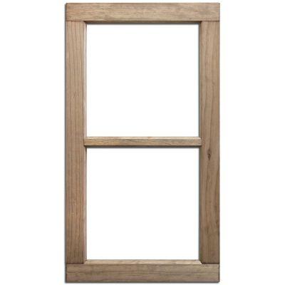 Salvaged 2 Pane Wood Window Frame 28