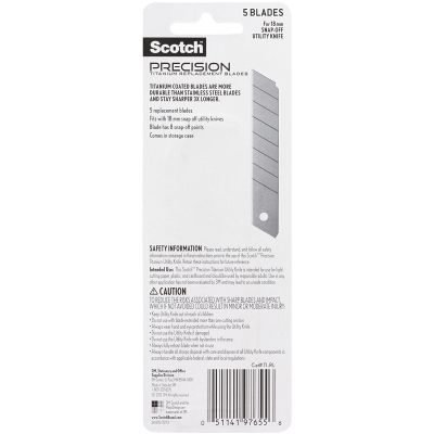 Scotch Utility Knife Refill Blades 5/Pkg Large - TI-RL