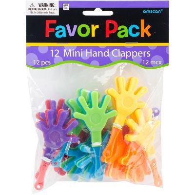 Party Favors 12/Pkg Mini Hand Clappers - 390169